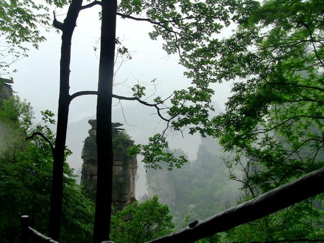『 【武陵源】百龍エレベーターが凄すぎて絶句!入場料と行き方 』 ..雨がそこそこ降っています。仙人の世界ですね。..
