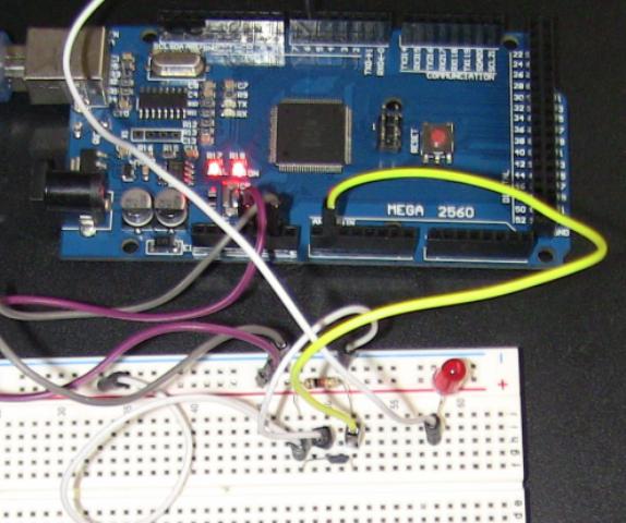 『 非接触ホールセンサースイッチ 』 ..簡単に基盤上で動作テストをしてみました。..