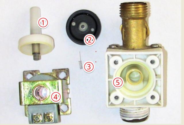 『 電磁弁(ソレノイド)が故障したので修理とメンテナンスしました。 』 ..意外に少ない部品点数です。..