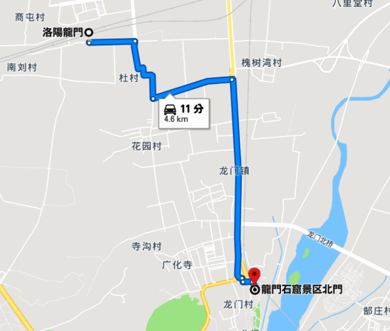 『 【洛陽観光】龍門石窟ツアーでなく地図を頼りに行ってみた 』 ..タクシー運転手には【龍門石窟西北区游客中心】と指定しましょう。(地図参照)そうしないと東北区旅客センターに向かいます。..