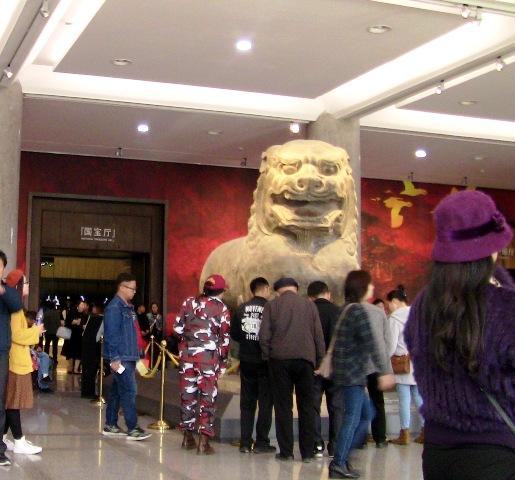 『 【陝西歴史博物館】入場料と待たずにサクサク入場する方法とは? 』 ..国宝庁入り口前です。..