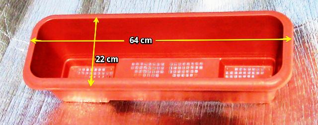 『 【甘い苺の育て方】いちごをプランターで栽培してみた 』 ..店頭に12個あったので全部購入です。(また補充されたかな?)外形サイズは横64cm 縦22cm 容量12Lでした。..