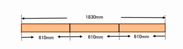 『 ベランダに置けるおしゃれな焼杉風プランター棚の作り方 』 ..一つの棚に610mmの長さを3本用意します。ワンバイツーを1本分、4つの棚ですので、4本加工します。..