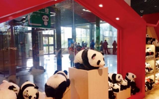 『 北京動物園のパンダはオリンピック広場で食う寝る遊ぶ三昧 』 ..北京動物園でパンダのお土産を購入するにはオリンピック広場の2Fがお土産コーナーになっています。..